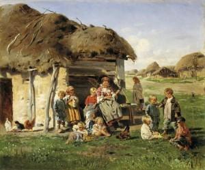 крестьянские дети
