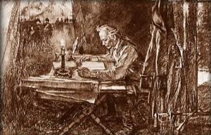 А.В. Суворов в военной палатке