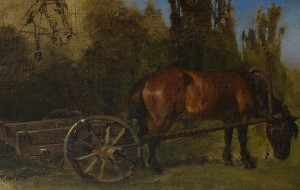 телега с лошадью
