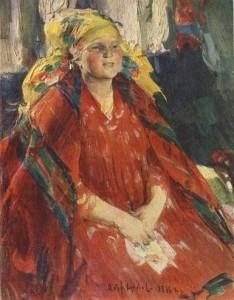Молодая крестьянка в желтом платке