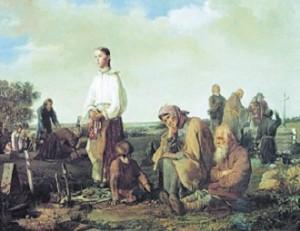 Алексей Корзухин. Поминки на кладбище
