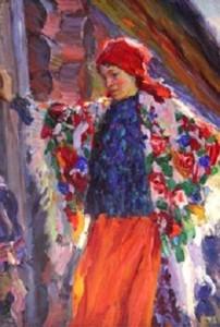 Крестьянка в красной косынке