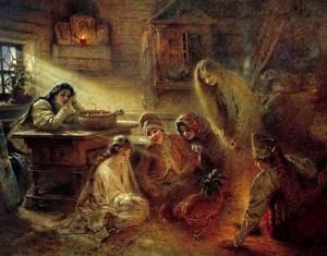 девичьи фольклорные гадания