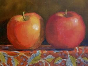Катились два яблочка