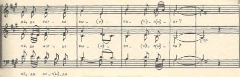 музыкальная нотация к фольклорной песне Груша ты моя
