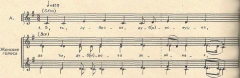 Песня фольклорная - Э, ты, дуброва, дубровушка - музыкальная нотация