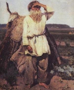 Василий Суриков - Старик-огородник, 1882