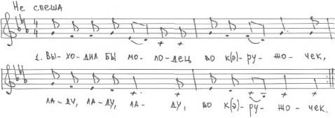 Выходил бы молодец (музыкальная нотация)
