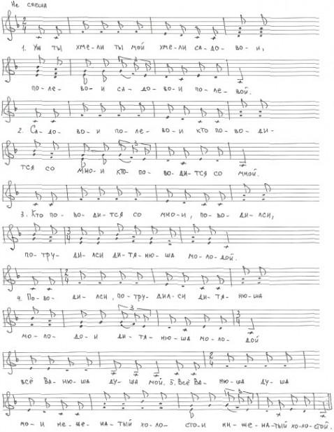 Хмель хороводная песня