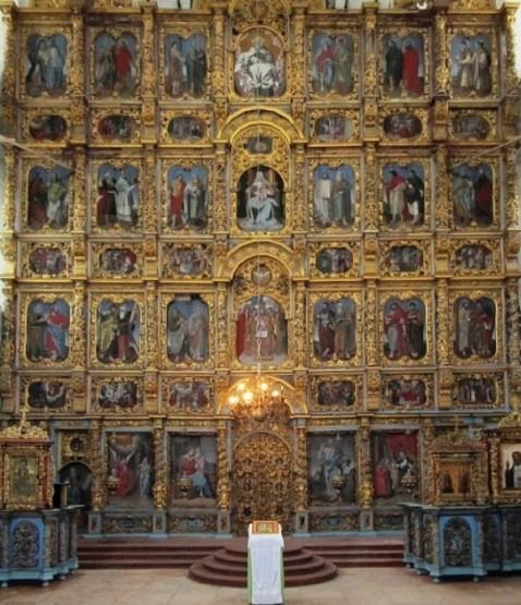 иконостас Введенского монастыря в Сольвычегодске