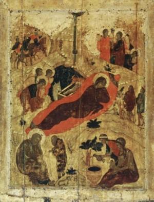 Андрей Рублёв. Рождество Христово (икона)
