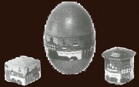 Пасхальное яйцо,  шкатулка, елочная игрушка. Начало XX в.