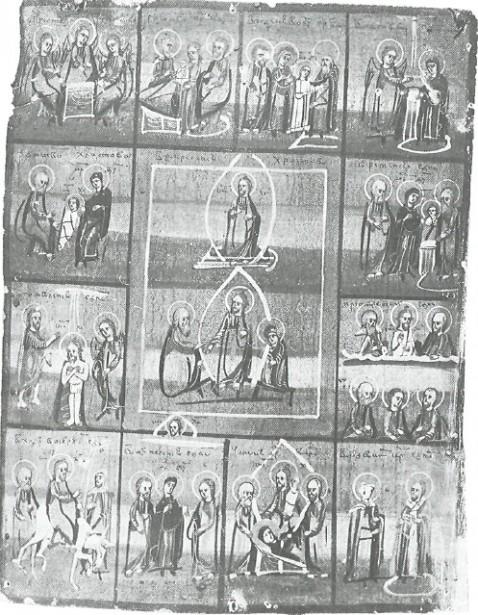 Воскресение Христово с праздниками.  Икона. Конец XIX в