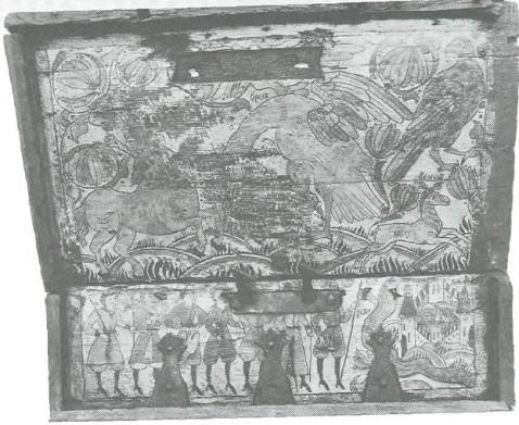 Сундучок-подголовник. Конец XVII - начало XVIII вв. Устюг Великий.