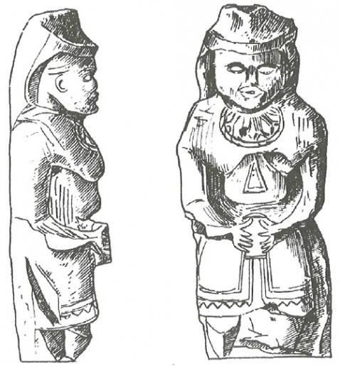 Половецкие женщины. Каменная скульптура. XIII в.