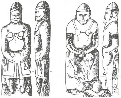 Половецкие воины. Каменные скульптуры. XVIII в.