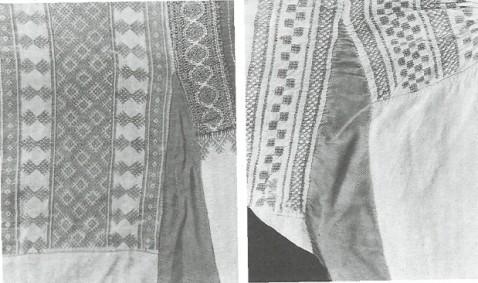 Женские праздничные рубахи с косяками.